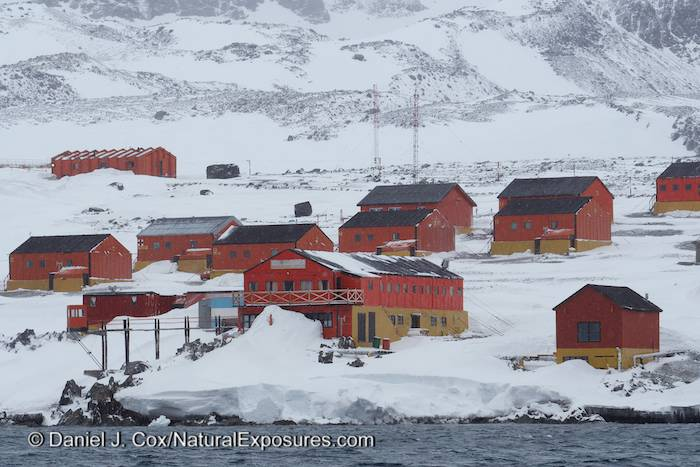 The Argentine base known as Esperanza. Antarctica.