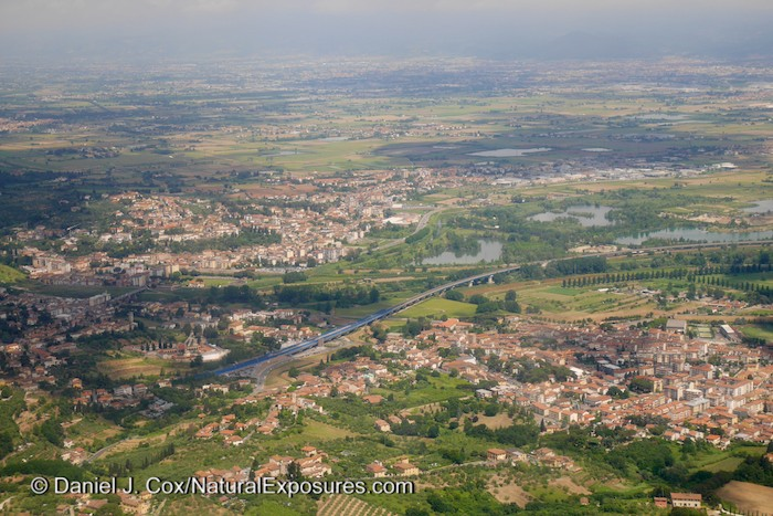 On final approach in to the gorgeous capitol city of Tuscany, Florence, Italy.