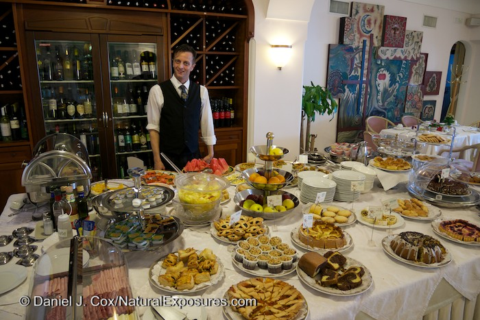 Tony, one of the amazingly helpful and proud to serve you Italians at the Eden Roc Hotel in Positano, Italy.