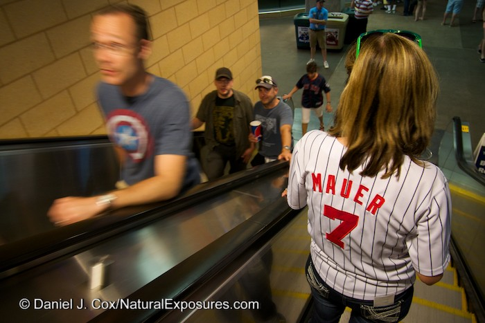 Joe Mauer's name is on the back of many a Twins fan. Mauer who is local St. Paul native is well loved and has a salary of 28 million USD. Pretty good for one of the Minnesota locals.