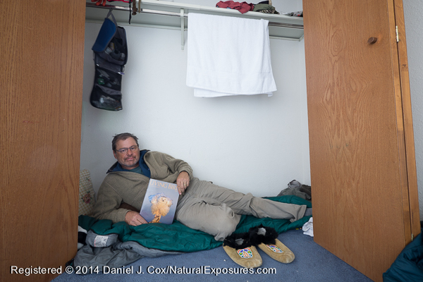 My sleeping quarters at the Owl Research Institute house in Barrow.