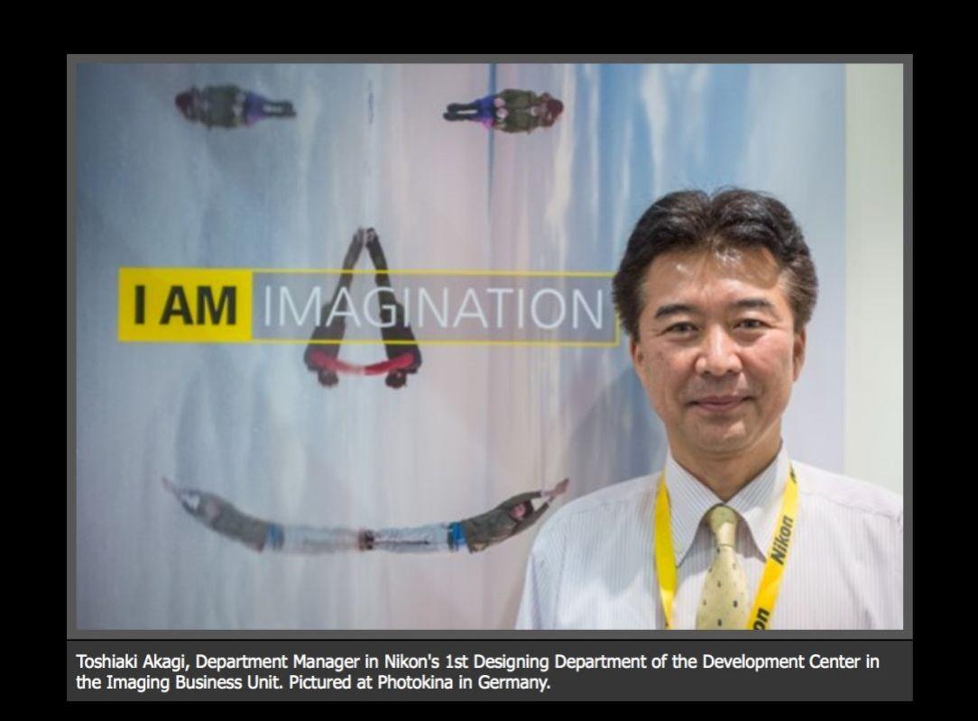 Toshiaki Akagi, Department Manager in Nikon's 1st Designing Department