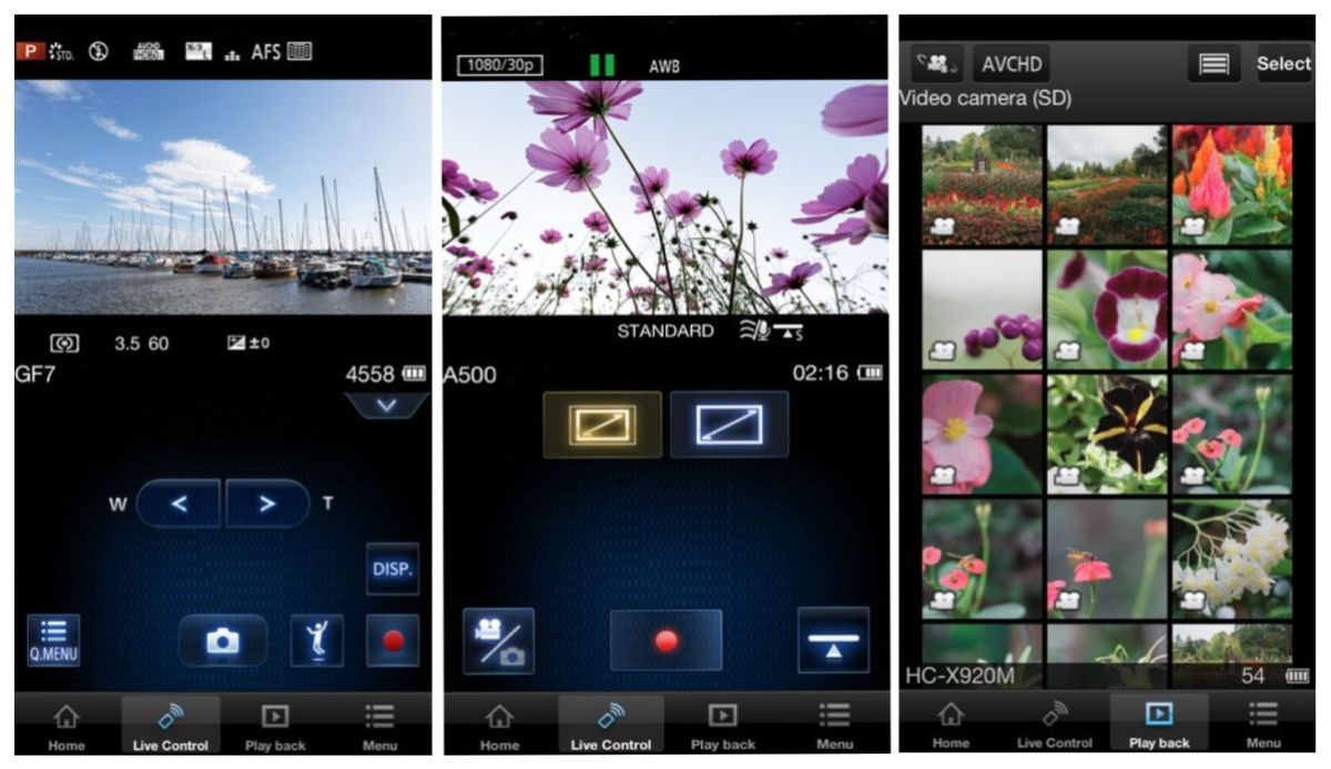 Screen shots of the iPhone version of the Panasonic Image App. This app makes getting the image to your phone a breeze. Yo can set it up so as you shoot the JEPGs go to your phone and the higher quality RAW files stay on your card. It's the best of both worlds with a much, much higher quality image than what you get form your phone.