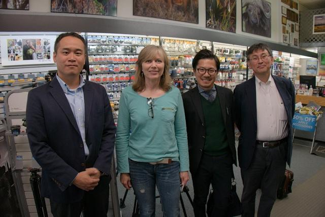 Panasonic Lumix Executives from Tokyo meet with Marsha Phillips F11 Photographic Supplies in Bozeman, Montana.