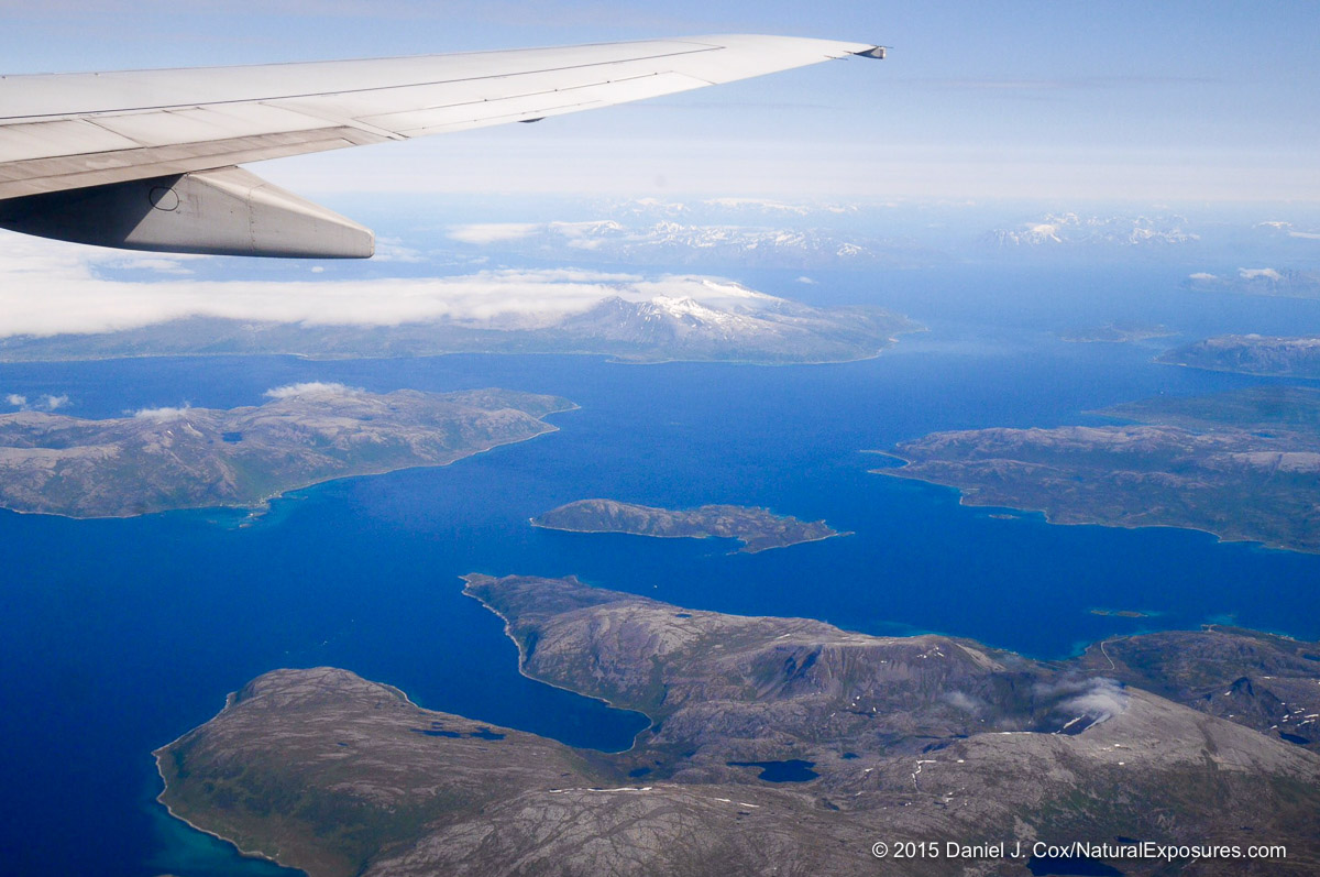 A view from the air of the Norway coast line. Lumix GM1 12-35mm lens