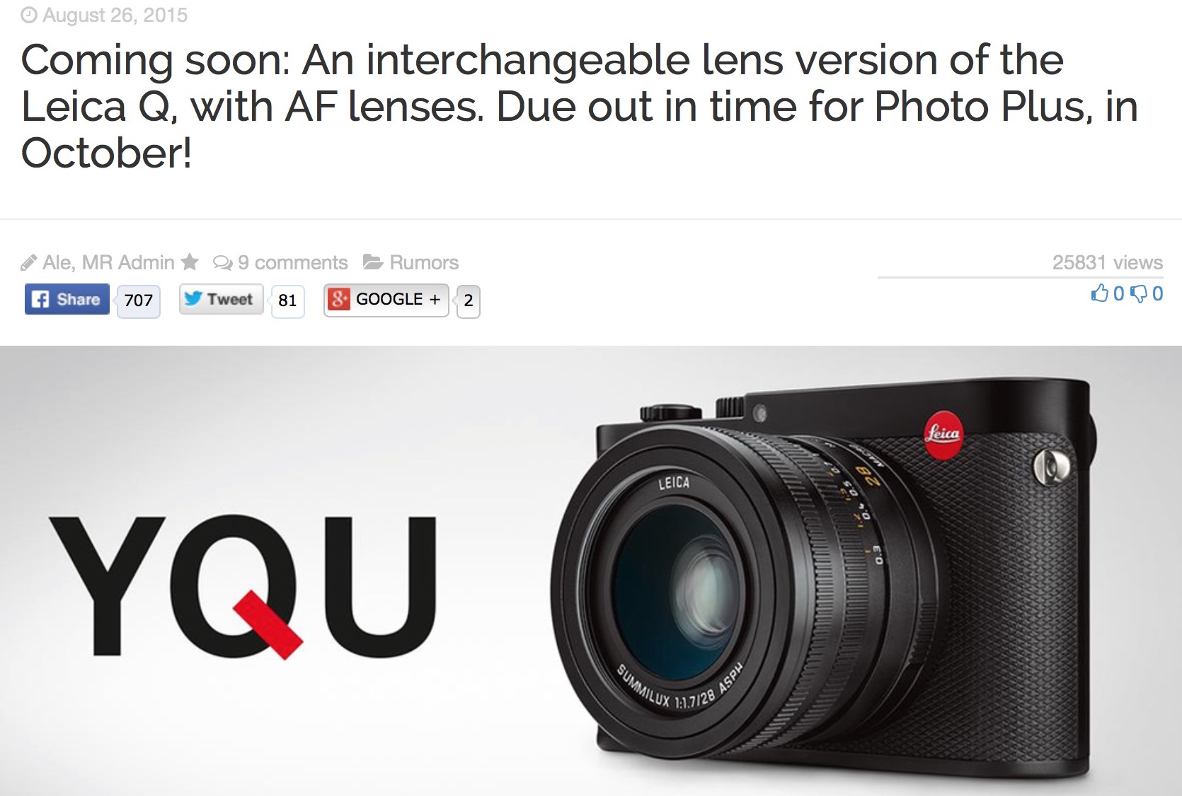 Full Frame Leica with Panasonic Technology