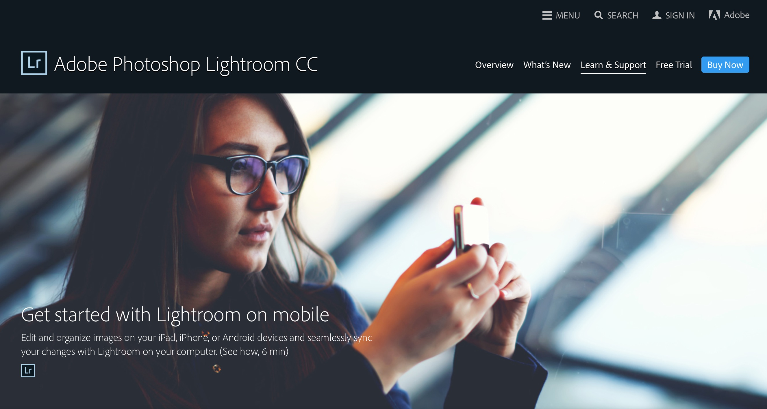 Adobe Lightroom Mobile for editing your photos is now offered as a FREE app from Adobe. Click on the image to find out more.