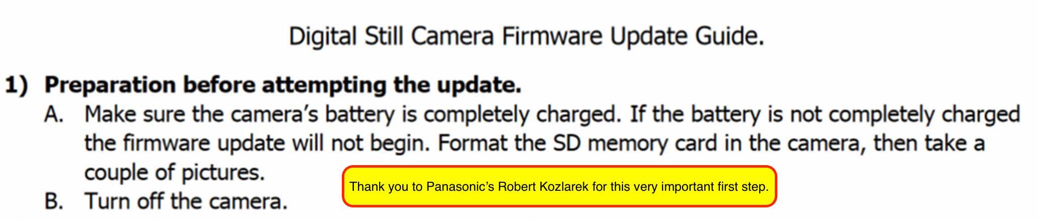 Update Firmware on Panasonic Lumix Cameras & Lenses