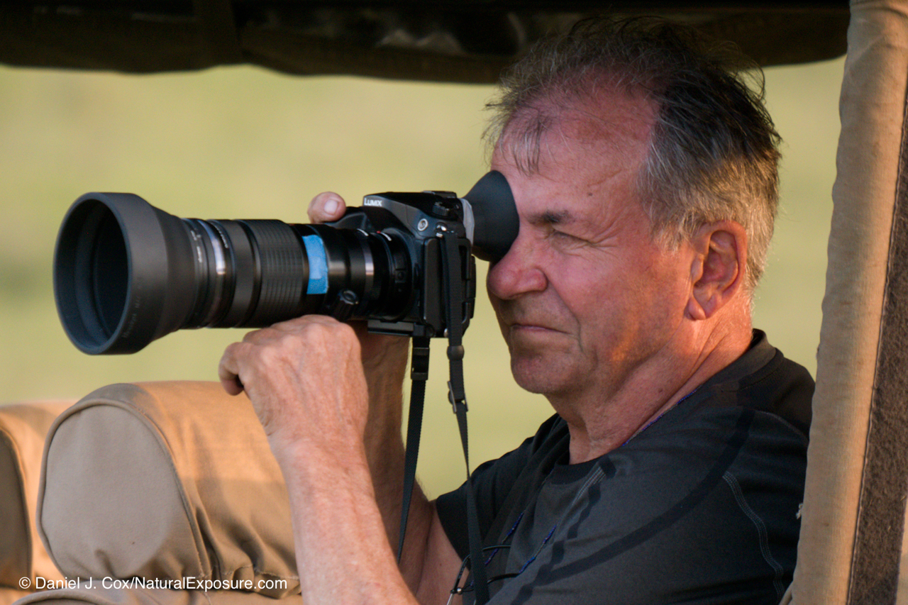 Trent making pictures with his Lumix GH4 and Oly 40-150mm zoom at the Lewa Wildlife Conservancy, Kenya