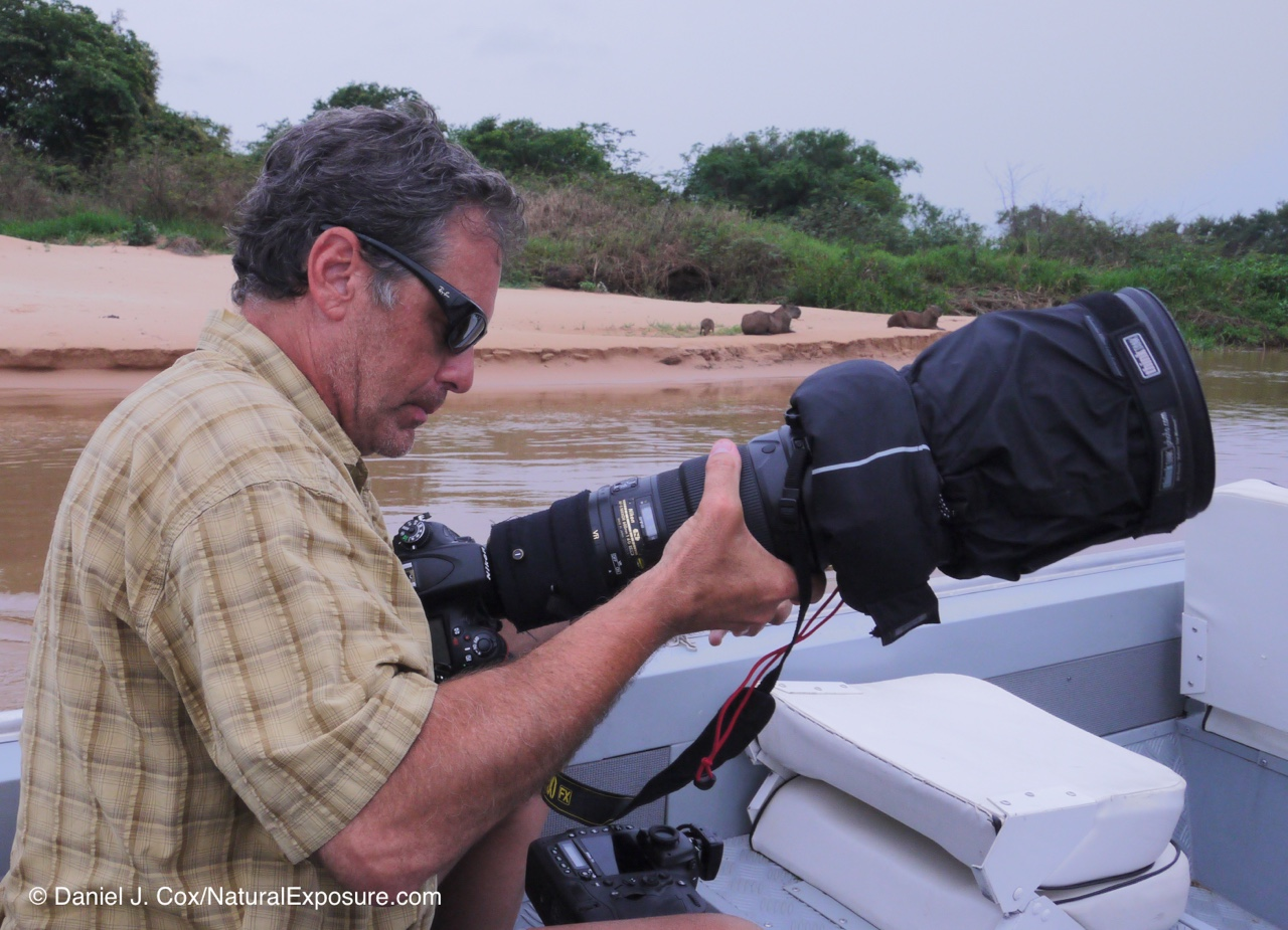 Dan on the Cuiaba river several years ago shooting the Nikkor 600mm F/4