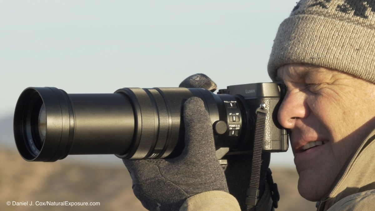 Dan shooting the new Leica 100-400mm on birds.