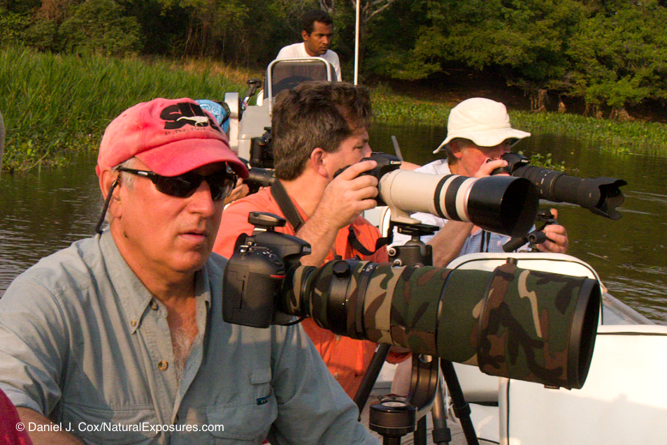 Dean with the Natural Exposures family in the Pantanal photographing jaguars before he saw the light with MFT.