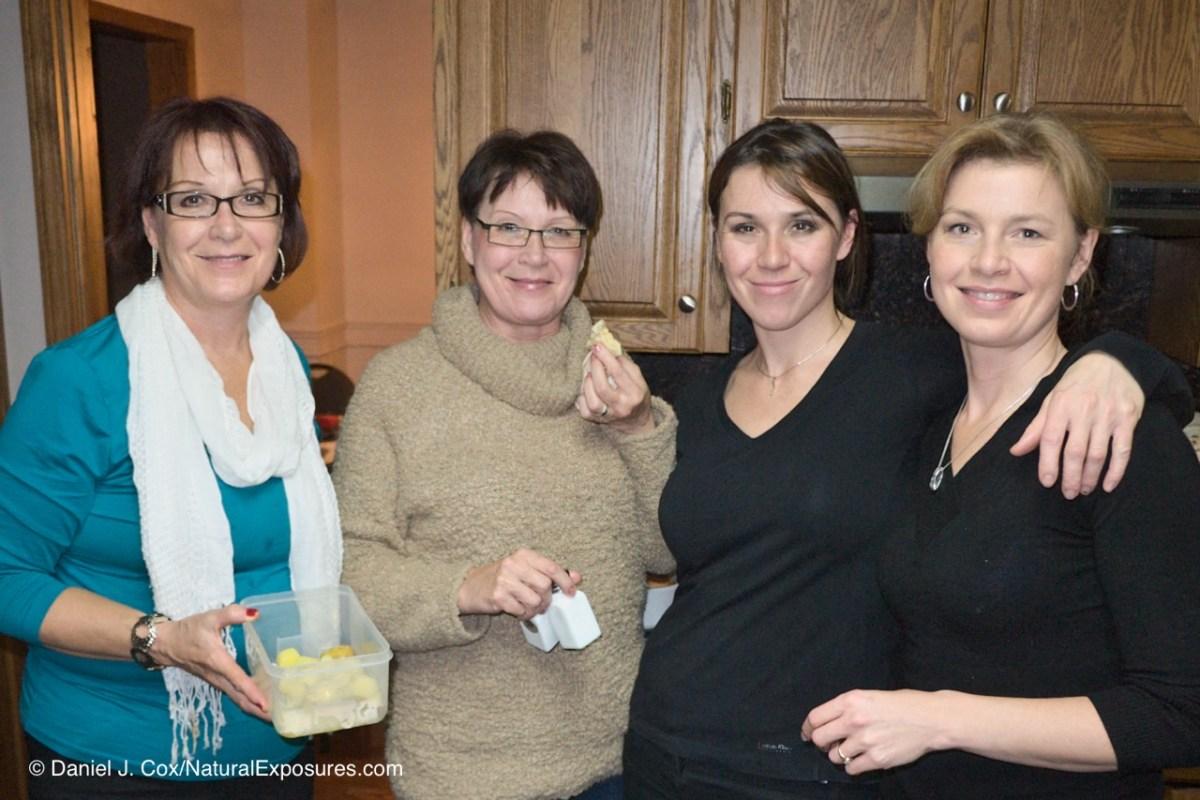 Jane, Judy Sonya and Tanya. Christmas 2011 at Terry and Jane's in Winnipeg, Manitoba