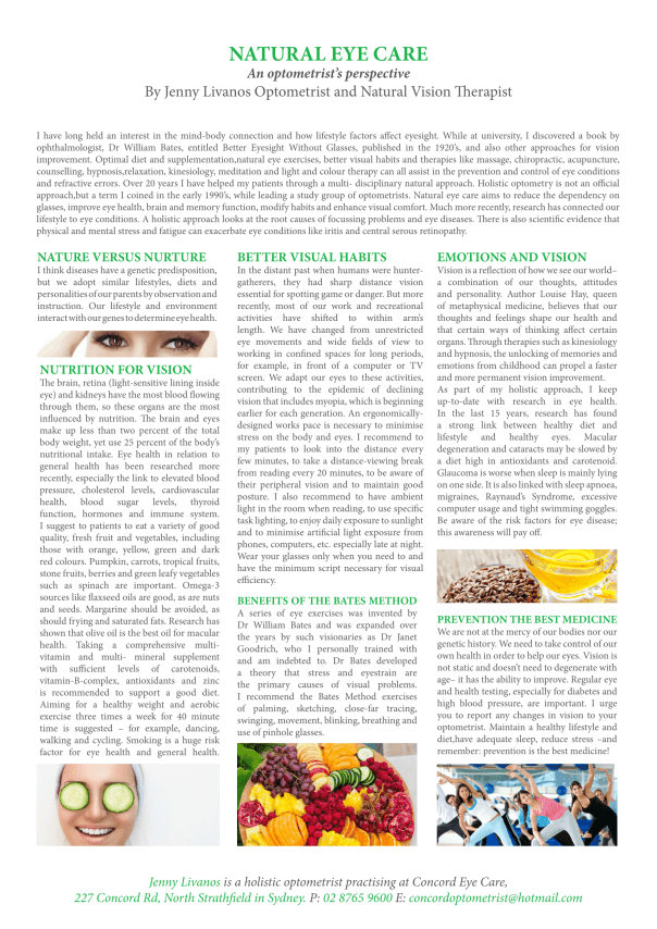 53734_Concord Eye Care_ A4 Article_ 2 x Kinds (Holistic Optometry Article) -1