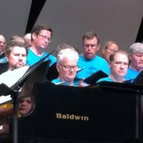 Paul with his mens choir