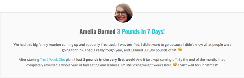 Amelia Burned 3 Pounds in 7 Days