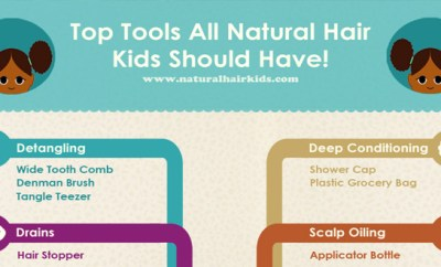 Natural Hair Tools Infographic