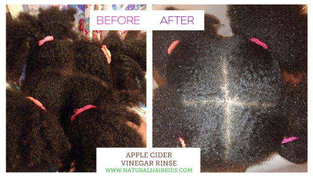 ACV Rinse before after