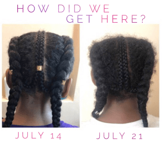cornrow braids before and after