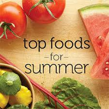 顶部夏季食品