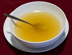 Image of a bowl of broth soup