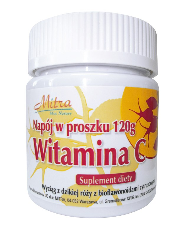 Vitamin C Powder with the extract of Wild Rose with citrus bioflavonoids 120g