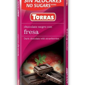 Sugar Free Dark Chocolate with Strawberry (75g)