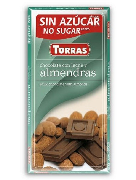 Sugar Free Milk Chocolate with Almonds(75g)