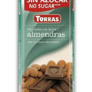 Sugar Free Milk Chocolate with Almonds(75g)