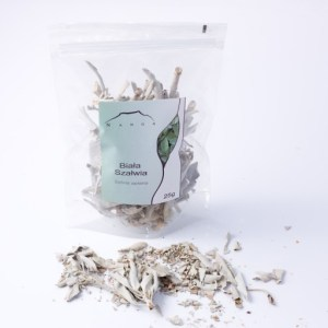 White Sage Natural Incense, Whole Leaves, 25g