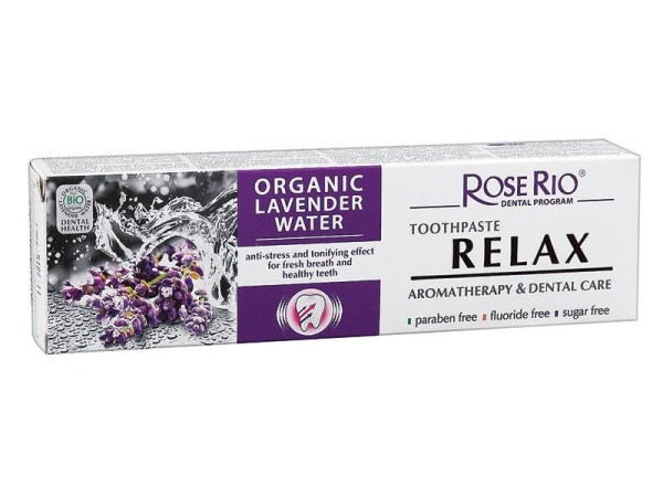 Toothpaste Rose Rio RELAX with organic lavender water 65ml
