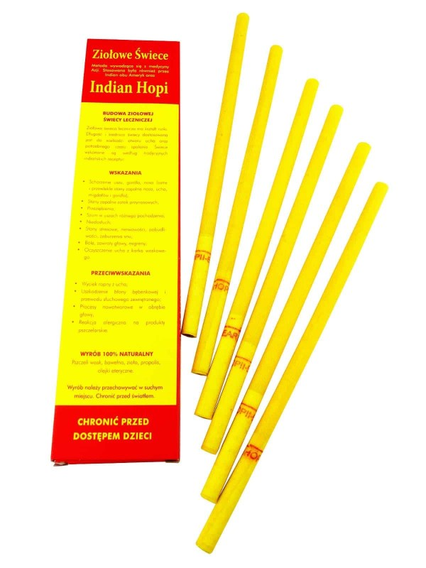 Indian Hopi, Herbal Candles, Ear candling, 2 pieces