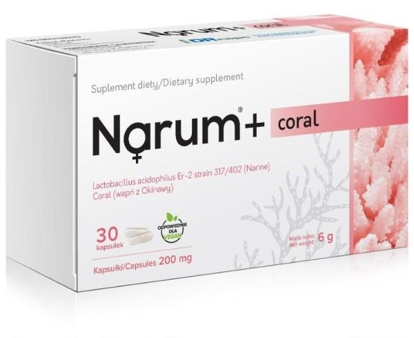 Narum + Coral 200 mg, Lactobacillus Acidophilus, 30 capsules