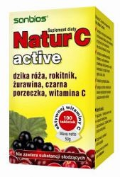 Natur C Active 100 tablets, Sanbios