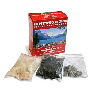 Set of natural water filters: Shungite, Quartz & Silicium, 380g