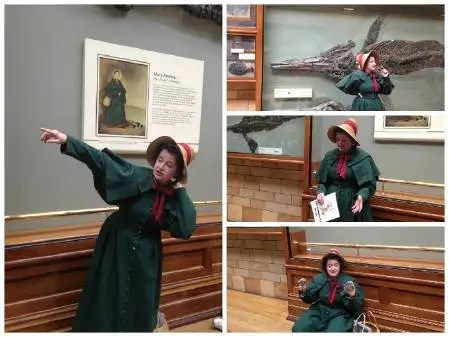 Our gallery character 'Mary' regularly talks in front some of her own fossils