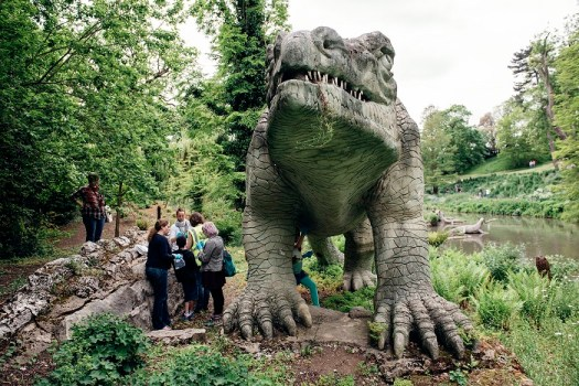 The Crystal Palace Dinosaurs were built in 1854 to inform and amaze. © Stefan Ferreira