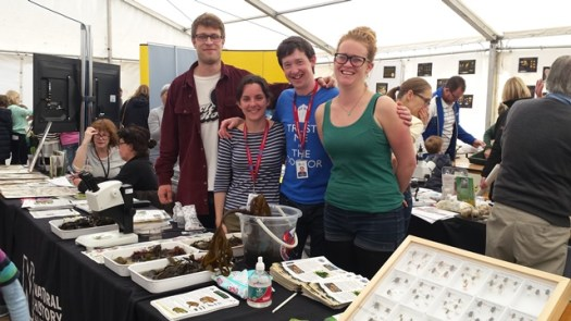 Members of the AMC and ID Trainers for the Future teams on the stand (L-R: Mike Waller, ID Trainee; Jade Cawthray, Citizen Science Team; Anthony Roach and Chloe Rose, ID Trainees)