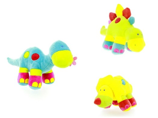 These funny, friendly dinosaurs contain a rattle that will keep little hands amused.