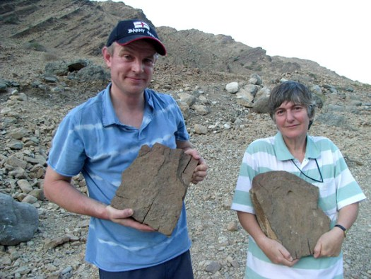 Photograph of Giles Miller and Felicity Heward in Oman