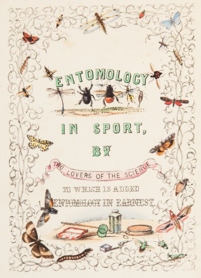A photo of the front cover of Entomology in Sport
