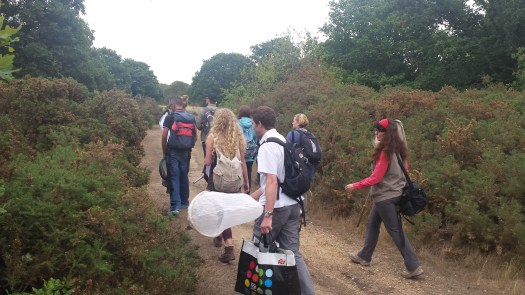 Photo of the ID Trainers walking to a fieldwork site