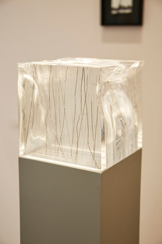 Perspex/print scultpture