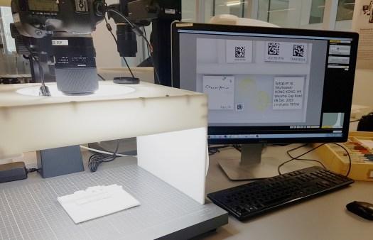 Digitisation set-up