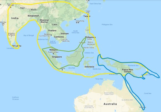 Birdwings map