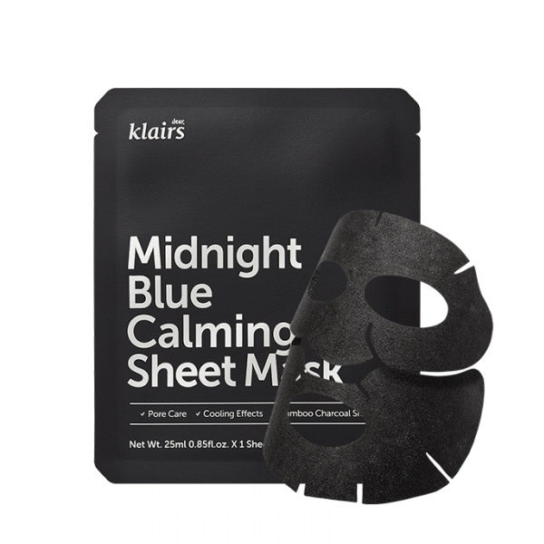 Midnight Blue Calming Sheet Mask, Dear Klairs, Romania