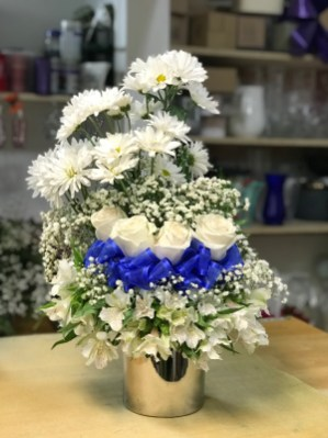 FNR007 Calm Blue and white $75