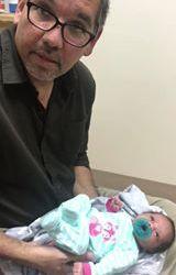 17 day-old Infant gets adjusted 1
