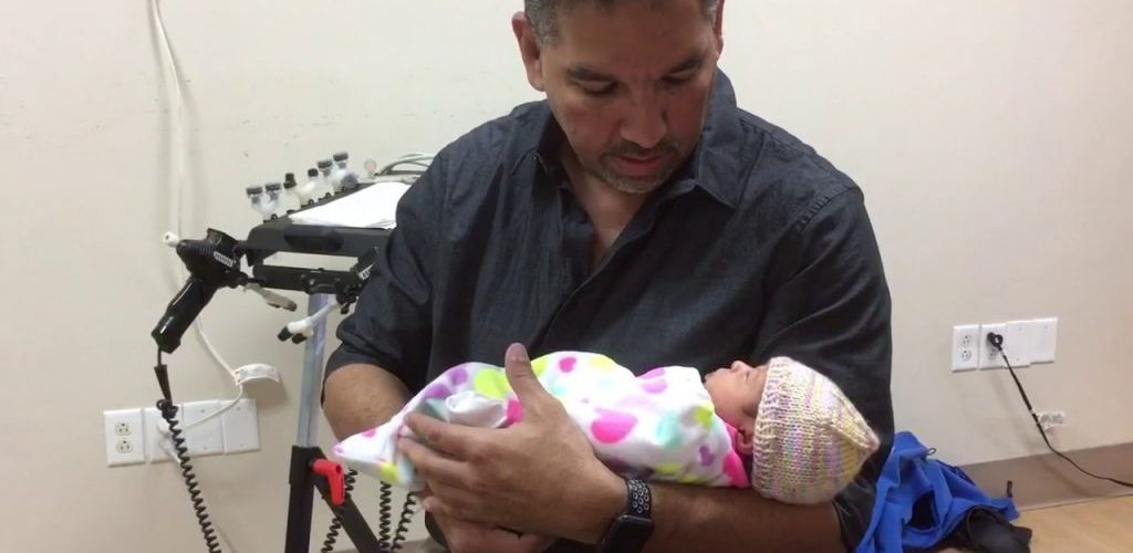 Adjusting a baby 10