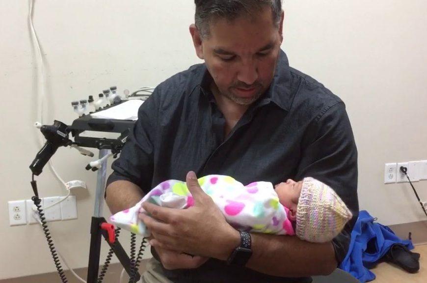 Adjusting a baby 1